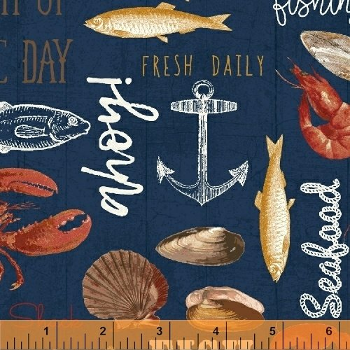 Windham Fabrics - Fresh Catch - Catch of the Day 51074 -1