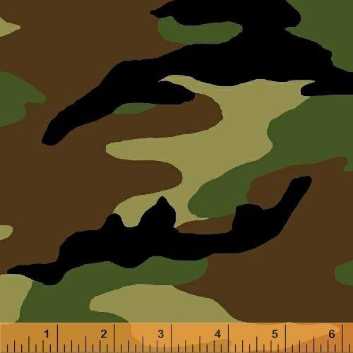 Windham Fabrics 51463-GREEN 108 Camo Camouflage Backing
