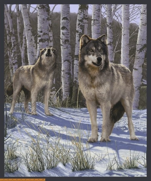 Wndham - One of a Kind- Snow Wolf PANEL 50904P-X