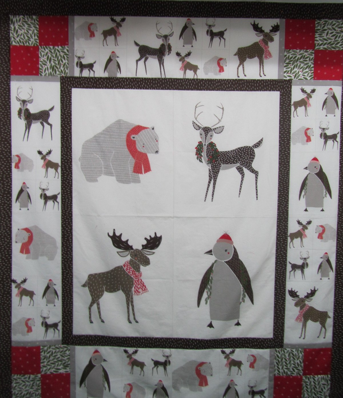 Winter Critters Quilt Kit featuring Merrily by Gingiber for Moda
