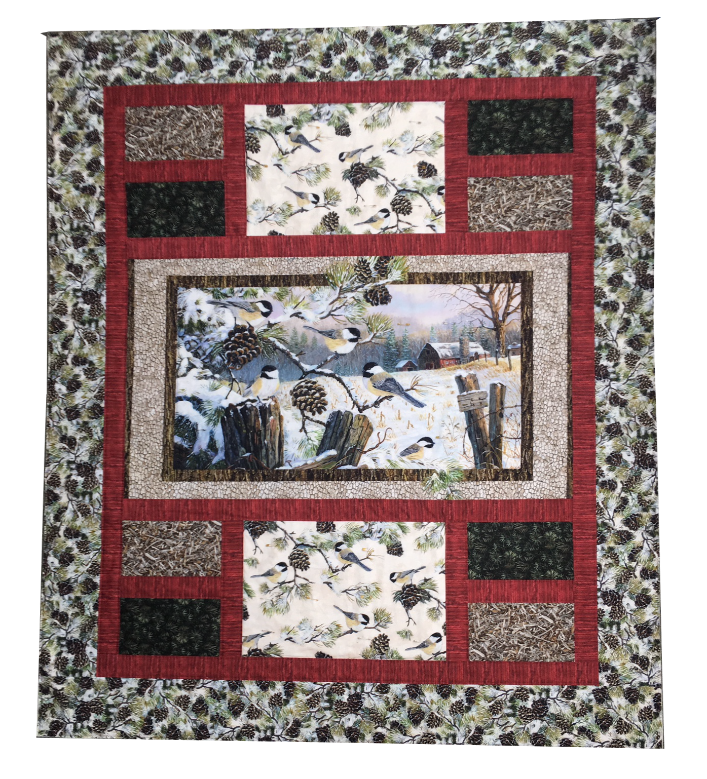 Winter Chickadee Quilt Kit - 54 x 64