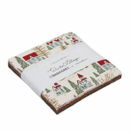 Moda - Winter Village Charm Pack - 42 pcs 5 squares