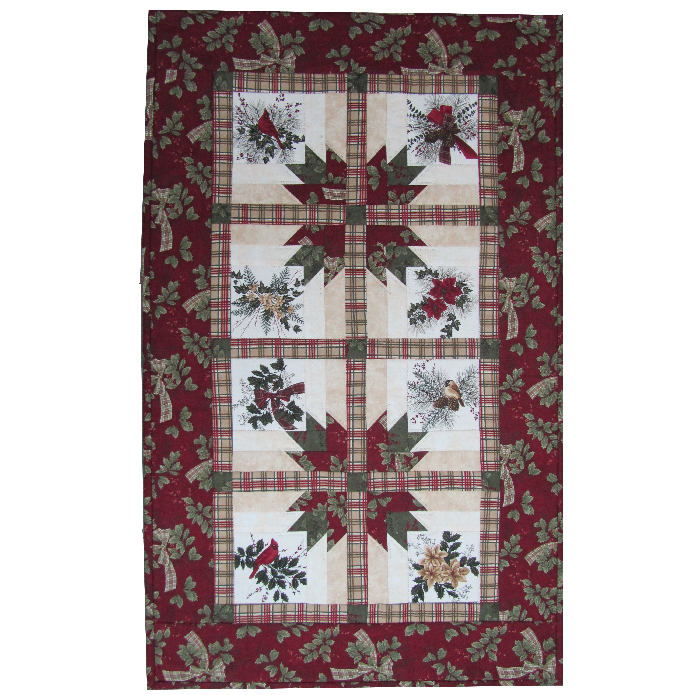 Kit:  Gemini Table Runner from Doug Leko's Winterlude Book  (Book not included)