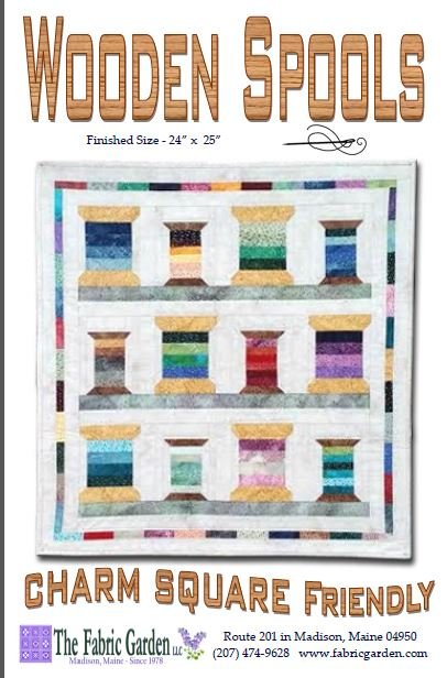 Wooden Spools Wall Hanging Pattern- Maine Shop Hop 2016