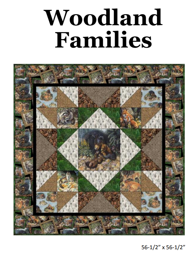 Free Pattern: Woodland Families Quilt by Deborah Stanley for Elizabeth's Studio