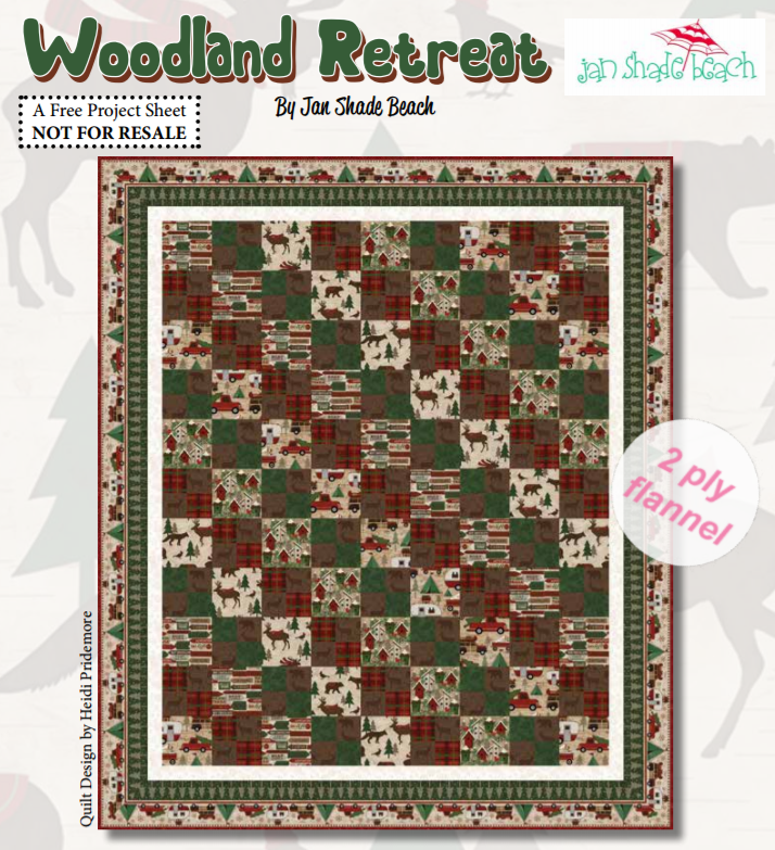 Free Pattern:  Woodland Retreat by Jan Shade Beach for Henry Glass Fabrics