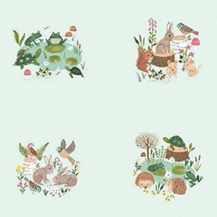 Clothworks - Woodland Wander by Rebecca Jones Y2589-109 Small Panel