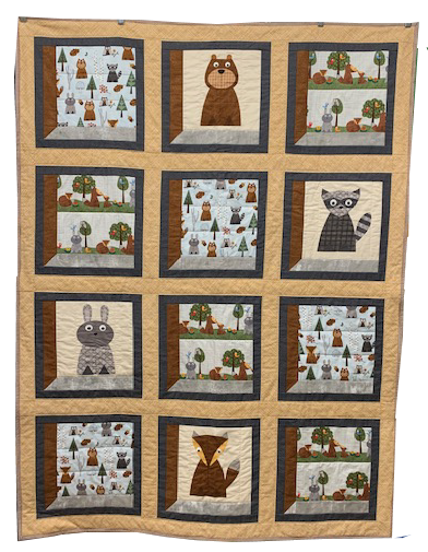 Woodsy Critters Childrens Quilt Kit