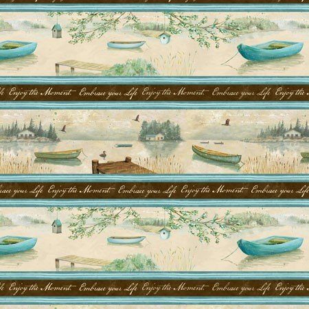 Wilmington Prints Lakeside Retreat Enjoy The Moment  44073-142