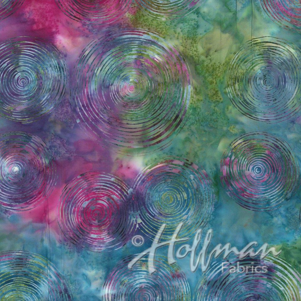 Hoffman Wide Back WQ2148-633 Bali Batik - Ripple Prism