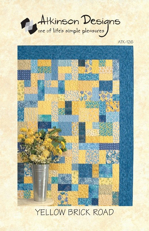 Atkinson Designs: Yellow Brick Road Quilt Pattern - Fat Quarter Friendly!