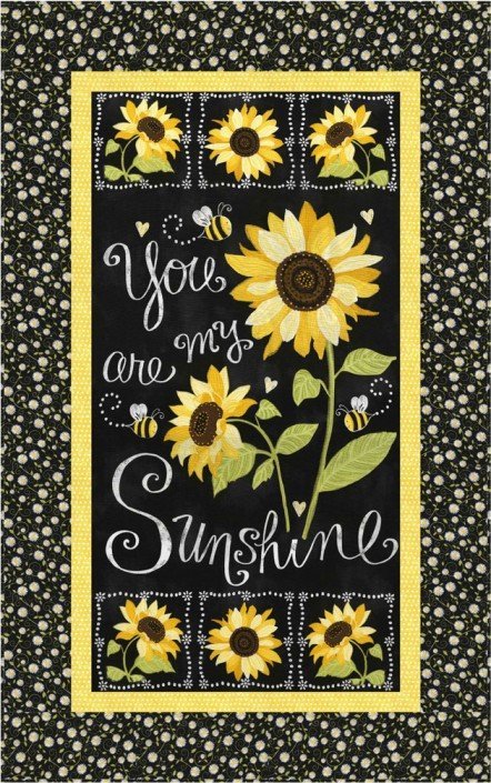Free Pattern:  You Are My Sunshine Wall Hanging Designed by Osie Lebowitz for Timeless Treasures
