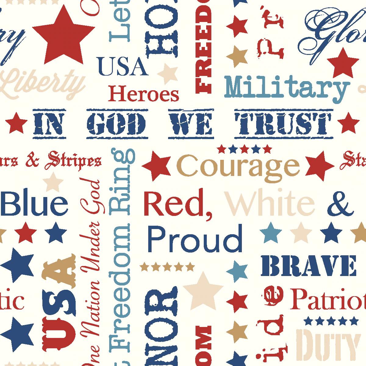 STARS of VALOR -  Patriotic Words