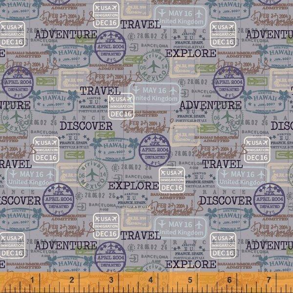 PASSPORT STAMPS ~ Grey
