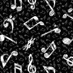 Musicality Large Notes Black