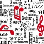 Musicality Words White