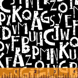 Sew Hope Full  - Alphabet BLACK