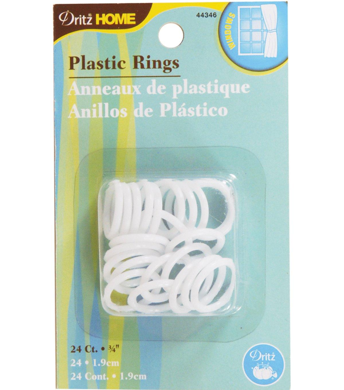 Plastic Rings 3/4, 24 ct