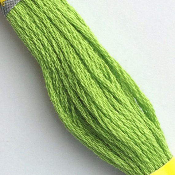Sullivans Embroidery Floss 8.7yd Skein Green Family - Compared to DMC color704 - bright chartreuse