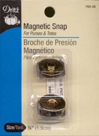 Magnetic Snap Gilt Finish 3/4in