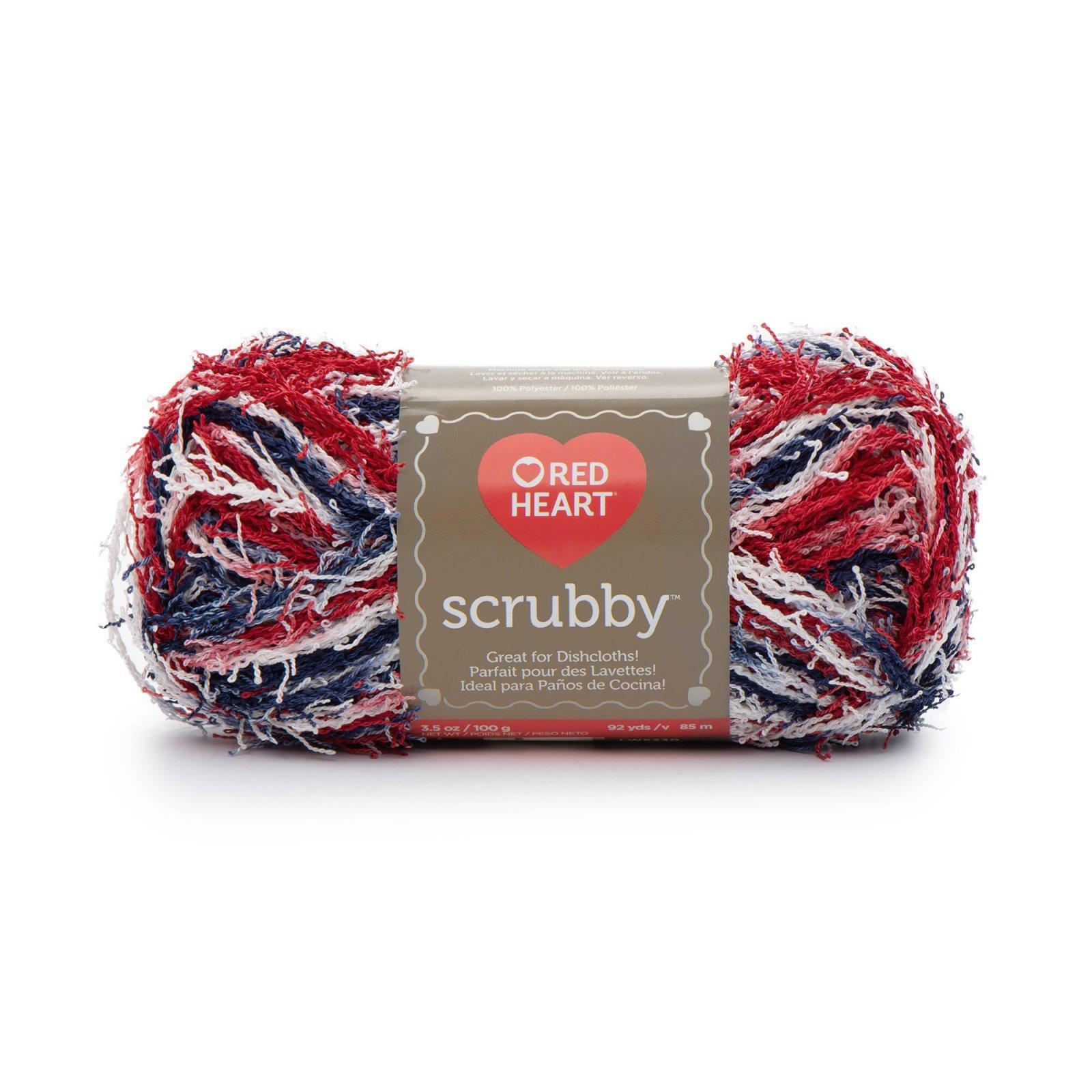 Red Heart Scrubby- Americana