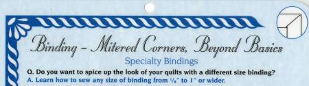 Know Before You Sew - Binding-Mitered Corners
