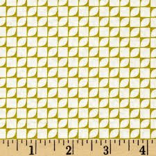 Simply Eclectic Geo Blocks Chartreuse Fabric