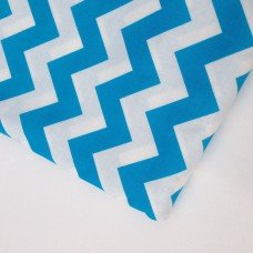 Neon Medium Chevron-neon blue