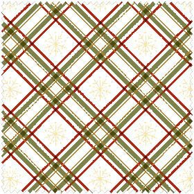 Christmas Classics By Maywood Studio - Green Plaid And Snowflakes