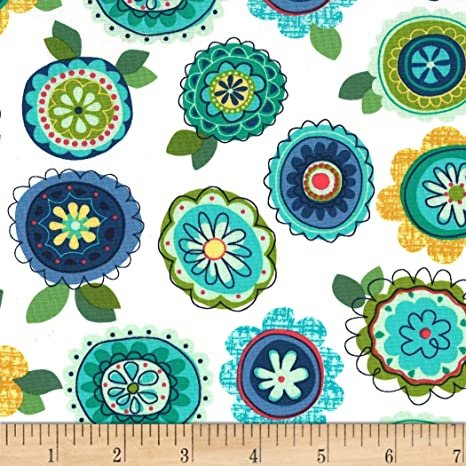 Michael Miller Love Nest for The Birds Turquoise Fabric