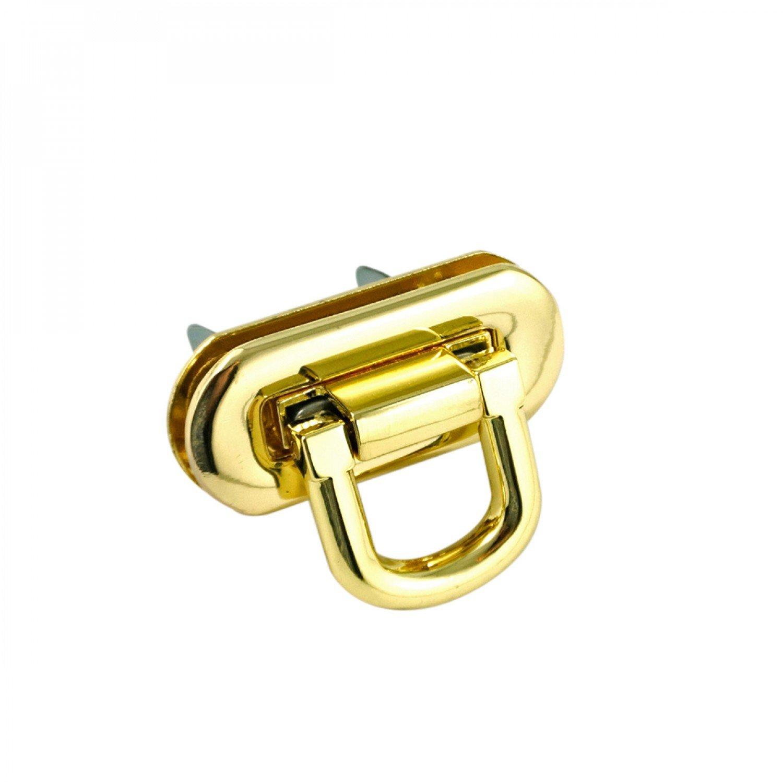 Oval Flip Lock Gold