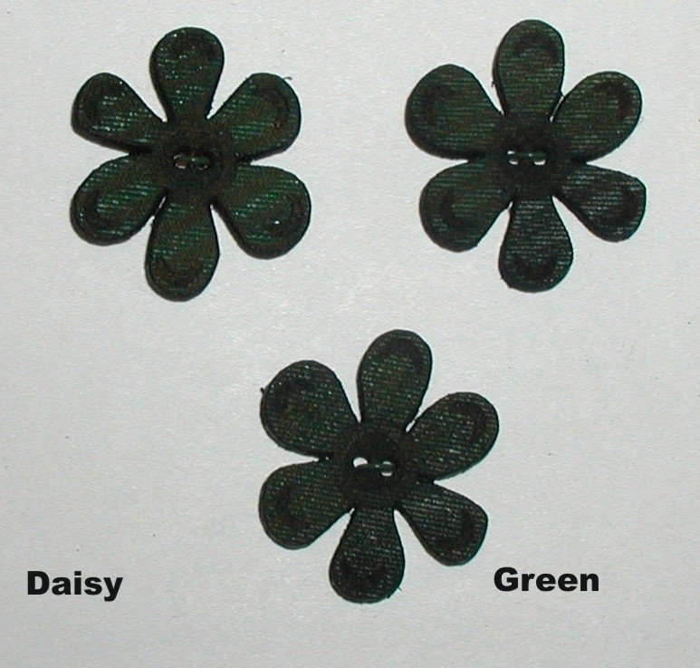 Cindy's Minis 3- 1 inch Green Leather