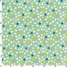 Animal Quackers Green Polka Dots