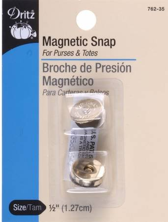 Magnetic Snap Gilt Finish 1/2in