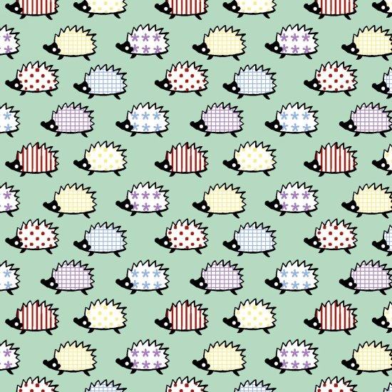 Retro Charm - Mint Hedgehogs