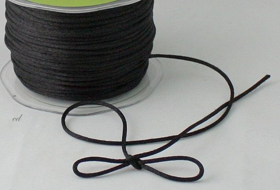 Simplicity Black Satin Cord- Sold by the yard