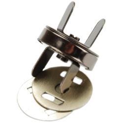 Magnetic Purse Snap - Black Nickel 18mm