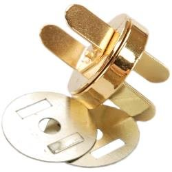 Magnetic Purse Snap 18mm 1/Pkg Gold
