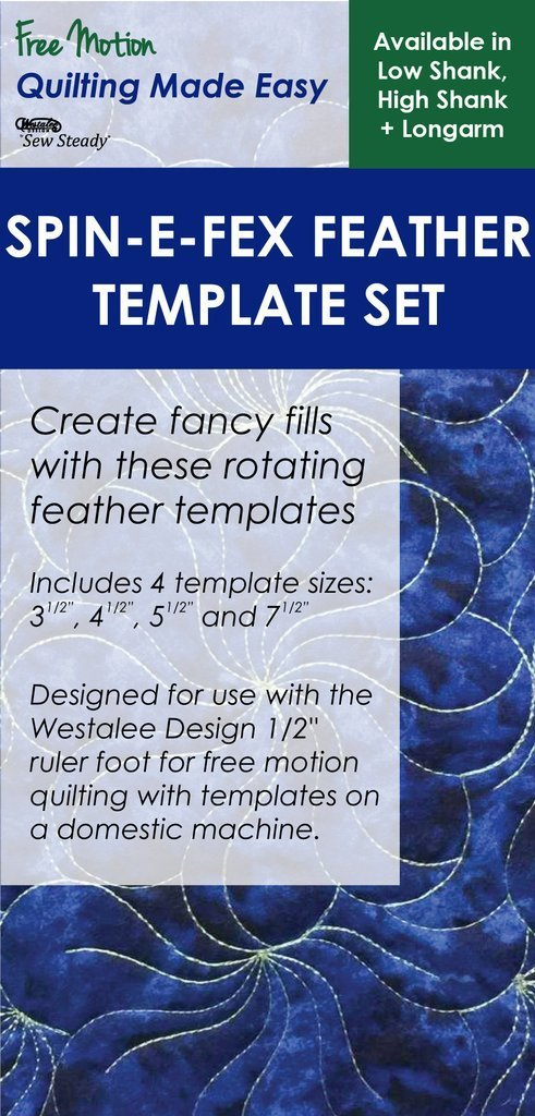 Westalee Spin-E-Fex Feather Template Set