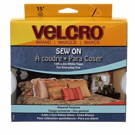 Velcro Sew On White 2in x 12in