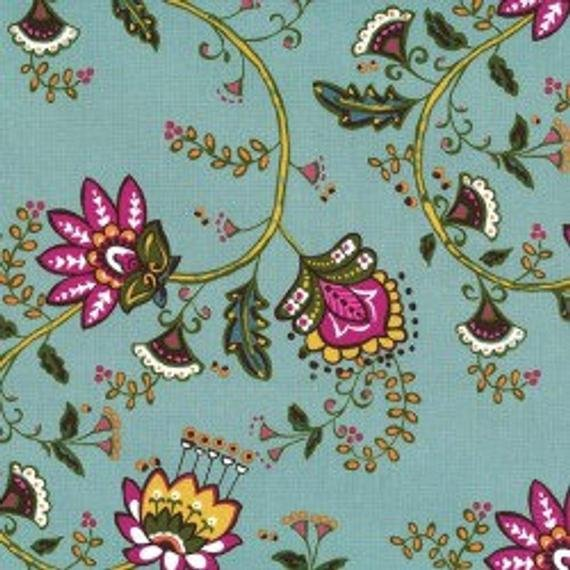 Michael Miller Fabrics from the Dilly Dahlia Collection Moon Flower Vine