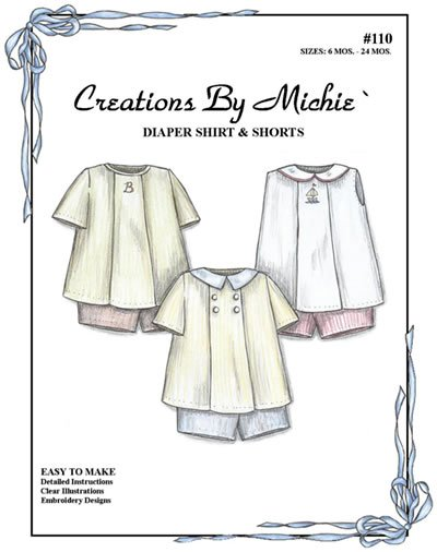 Creations by Michie' Diaper Shirt & Shorts #110