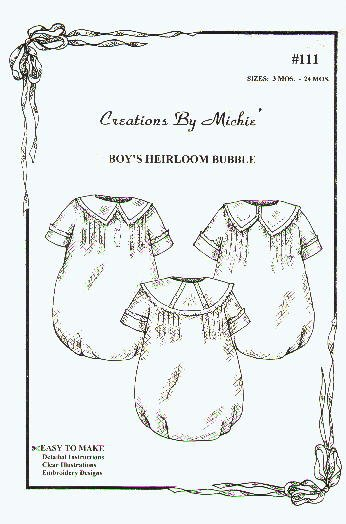 Creations by Michie' Boy's Heirloom Bubble #111
