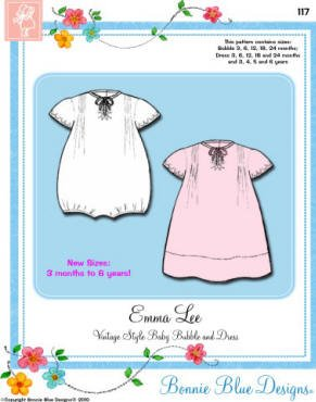 Bonnie Blue Designs Emalee - Vintage Style Baby Bubble & Dress