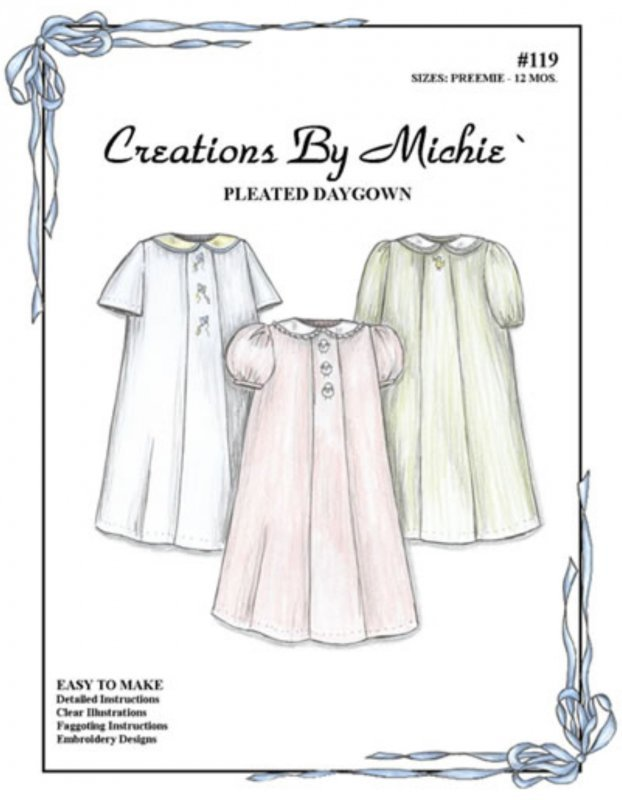 Creations by Michie' #119 Pleated Daygown