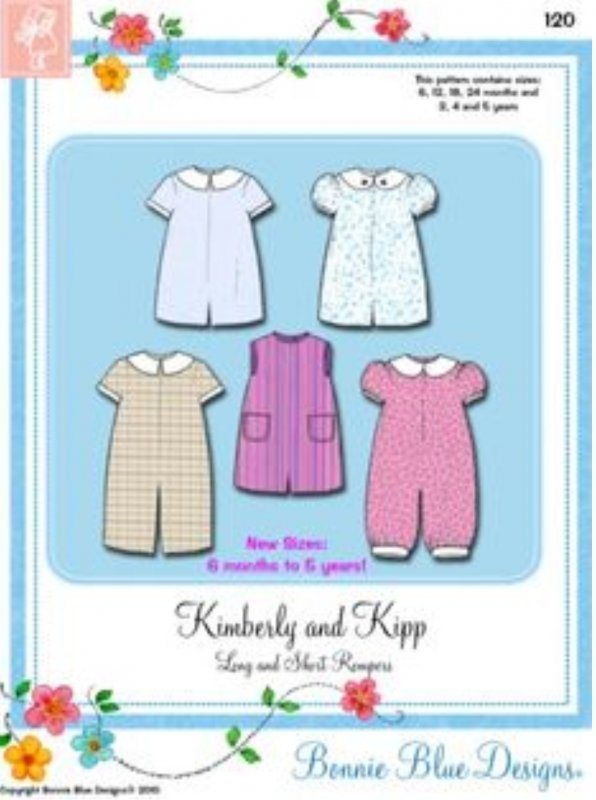 Bonnie Blue Designs Kimberly and Kipp - Long & Short Rompers