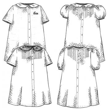 Creations by Michie' #128 Baby Daygown