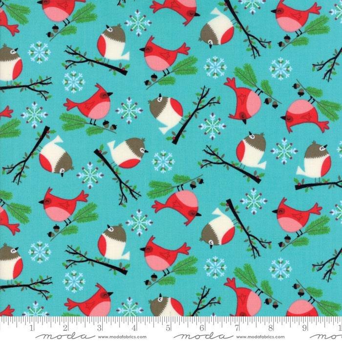 Q - Jingle Birds Keiki - Blue with Birds