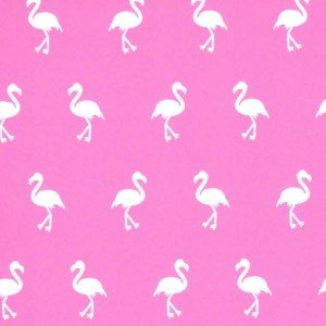 Fabric Finders Pink with white flamingos,print 1880, 100%Cotton, 60 wide