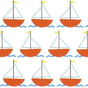 Fabric Finders 1999, orange sailboats